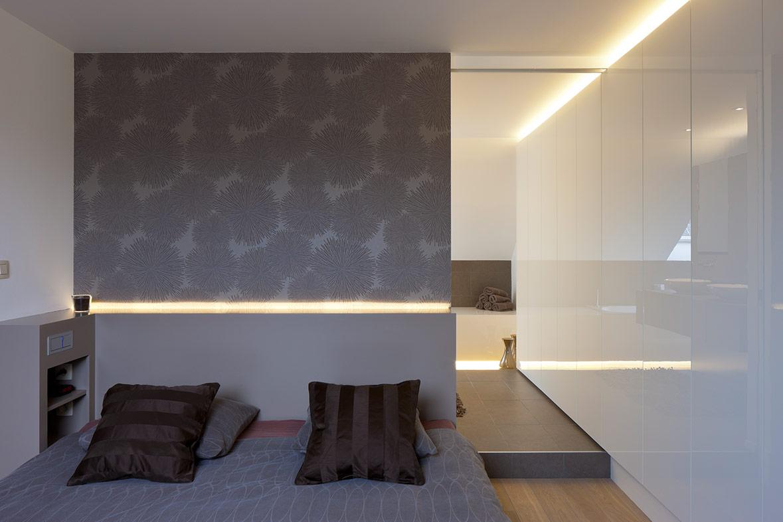 Slaapkamer interieur van K-I, goede nachtrust gegarandeerd.